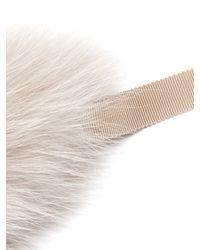 'S Max Mara | Gray Uniion Fur Collar | Lyst