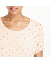 J.Crew - Pink Sequin Dot T-shirt - Lyst