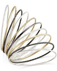 Style & Co. | Metallic Tri-tone Textured Bangle Bracelet Set | Lyst