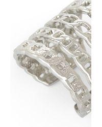 BCBGMAXAZRIA | Metallic Multi-chain Ring | Lyst