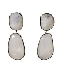Adornia | White Rainbow Moonstone Mercy Earrings | Lyst