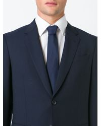 Burberry | Blue Pointed Tip Tie for Men | Lyst