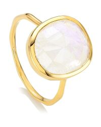Monica Vinader | Metallic Siren Medium Moonstone Stack Ring | Lyst