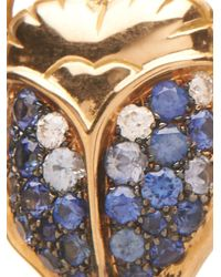 Aurelie Bidermann | Blue Beetle Diamond, Sapphire & Gold Earrings | Lyst