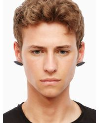 KTZ | Metallic Hand Symbol Earring for Men | Lyst