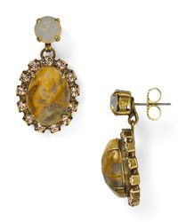Sorrelli - Metallic Crystal Encrusted Drop Earrings - Lyst