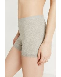 Urban Outfitters - Gray Amber Ribbed Cotton Short - Lyst