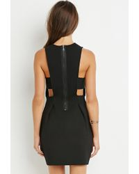 Forever 21 - Black Textured Bodycon Dress You've Been Added To The Waitlist - Lyst