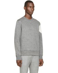 Moncler Gamme Bleu | Gray Grey Slub Neoprene Pullover for Men | Lyst