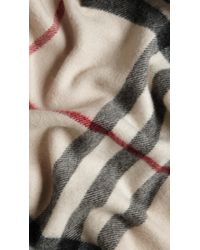 Burberry | Natural Check Cashmere Scarf for Men | Lyst