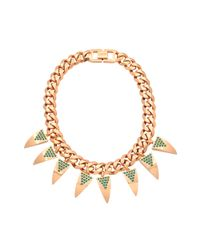 Mawi | Metallic Deco Fang Necklace | Lyst