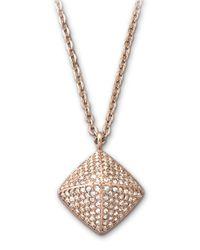 Swarovski - Metallic Tactic Pendant Necklace - Lyst