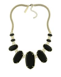 Kendra Scott | Black Ginger Bib Necklace | Lyst