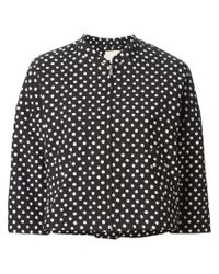 Band of Outsiders | Black Polka Dot Cropped Jacket | Lyst