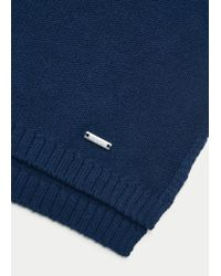 Violeta by Mango | Blue Ribbed Cotton-blend Sweater | Lyst