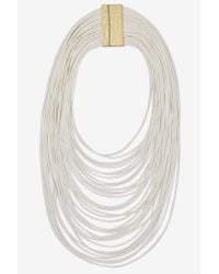 Nasty Gal - White Strand By Me Corded Necklace - Lyst