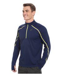 Asics - Blue Lite-show™ Long Sleeve 1/2 Zip for Men - Lyst