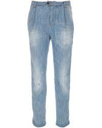 DSquared²   Blue Straight Leg Jean   Lyst