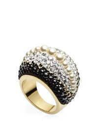 Swarovski - Metallic Gold-Tone Accented Ring - Lyst