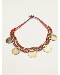 Free People - Pink Paulina Barcelona Womens Coins Massai Necklace Collar - Lyst