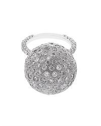 NSR Nina Runsdorf - White Diamond And Gold Bauble Ring - Lyst