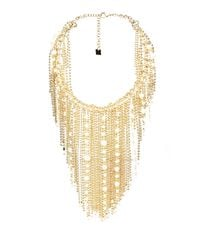 Rosantica By Michela Panero | Metallic Petardi Pearl-embellished Fringed-chain Necklace | Lyst