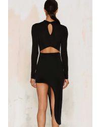 Glamorous | Black Great Length Asymmetric Bodycon Dress | Lyst