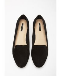 Forever 21 - Black Faux Suede Loafers - Lyst
