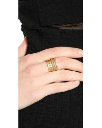 Madewell - Metallic Open Point Ring - Vintage Gold - Lyst