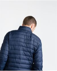 Zara | Blue Lightweight Padded Jacket for Men | Lyst