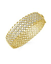 Effy | Metallic Diamond And 14k Yellow Gold Mesh Bracelet, 0.87tcw | Lyst