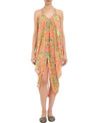 Mara Hoffman | Orange Garland-patterned Draped Coverup | Lyst
