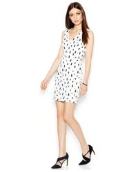 French Connection - White Sprayed Dot Sleeveless Dress - Lyst