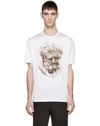 Neil Barrett - White Sliced Hercules T-shirt for Men - Lyst