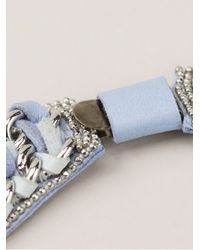 Barbara Bui | Blue Crystal Embellished Necklace | Lyst