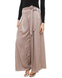 AKIRA - Gray Soft Wide Leg Pants - Dove - Lyst