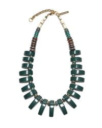 Lizzie Fortunato | Dark Green Tile Necklace | Lyst