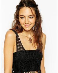 ASOS | Metallic Hamsa Hand Torque Choker Necklace | Lyst