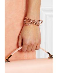 Balenciaga - Pink Bow Rose Gold-tone Cuff - Lyst