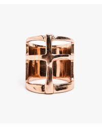 Pamela Love - Pink Cross Ring - Lyst