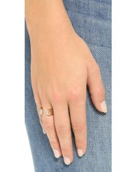 Vita Fede - Metallic Obsedia Crystal Ring - Rose Gold/clear - Lyst