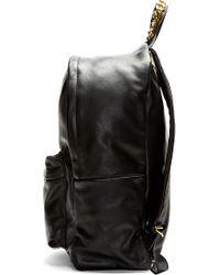 Sophie Hulme - Black Leather Frog Pendant Backpack - Lyst