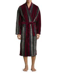 Ike Behar - Purple Terry Cloth Striped Robe for Men - Lyst