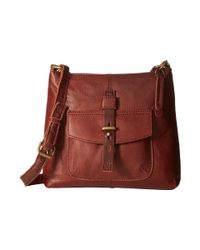 Lucky Brand | Brown Medine Top Zip Crossbody | Lyst