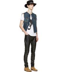Saint Laurent - White And Black Mr. X Bruce Connor Edition T_Shirt for Men - Lyst