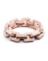 Eddie Borgo | Metallic Matte Rose Gold Plated Supra Link Bracelet | Lyst