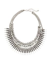 H&M | Gray Two-strand Necklace | Lyst