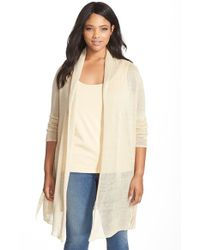 NIC+ZOE | Natural Belted Trench Cardigan | Lyst