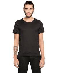 Giorgio Brato - Black Raw Cut Cotton Jersey T-shirt for Men - Lyst
