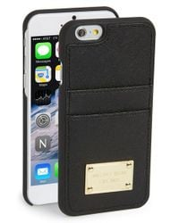 MICHAEL Michael Kors | Black Card Holder Iphone 6 & 6s Case | Lyst